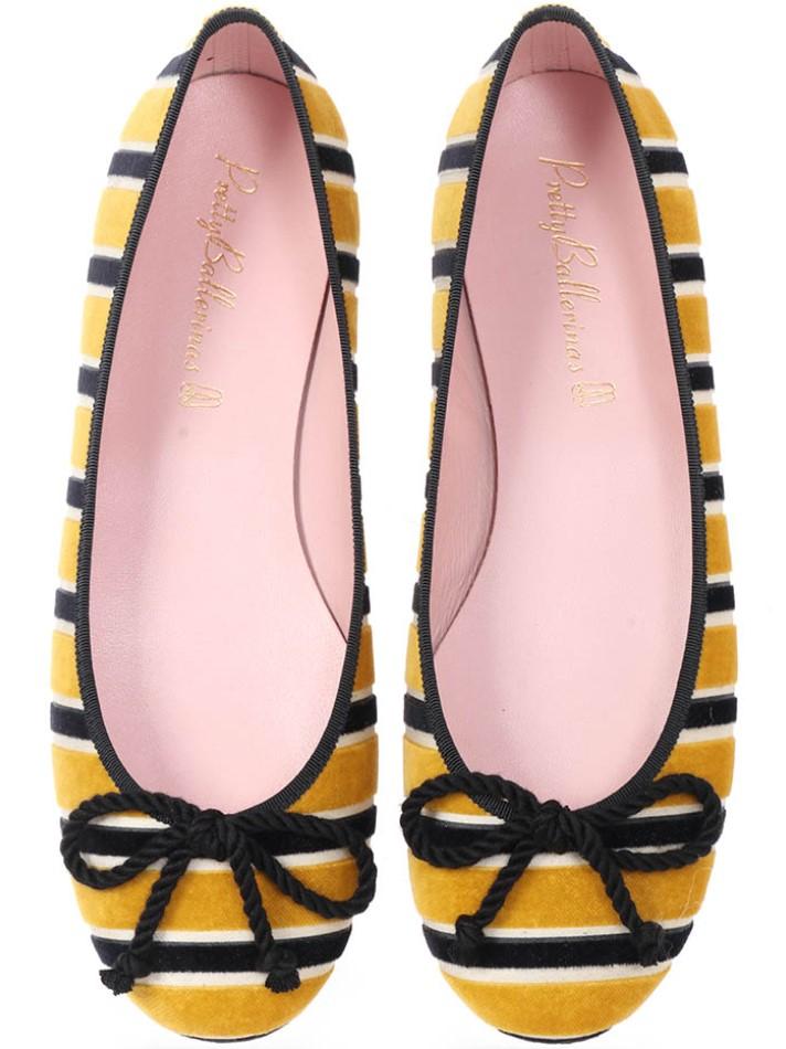 Aubree|צהוב|אבן|שחור|נעלי בובה|נעלי בלרינה|נעליים שטוחות|נעליים נוחות|ballerinas