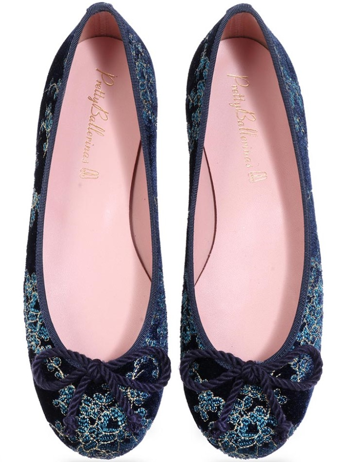 Athena|כחול|תכלת|זהב|נעלי בובה|נעלי בלרינה|נעליים שטוחות|נעליים נוחות|ballerinas
