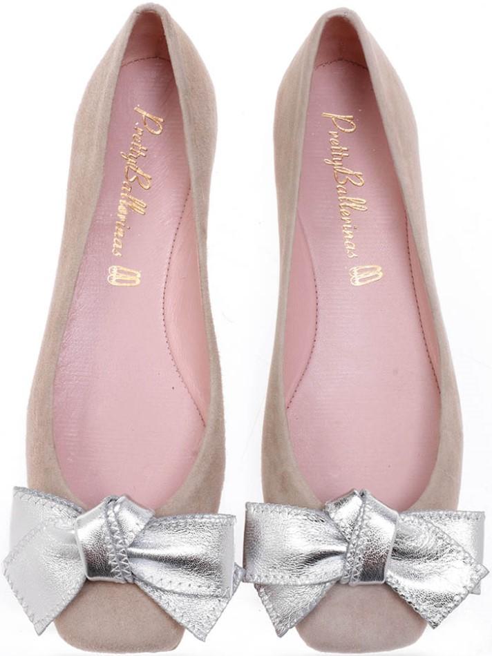 Lianaky|ניוד|כסף|נעלי בובה|נעלי בלרינה|נעליים שטוחות|נעליים נוחות|ballerinas