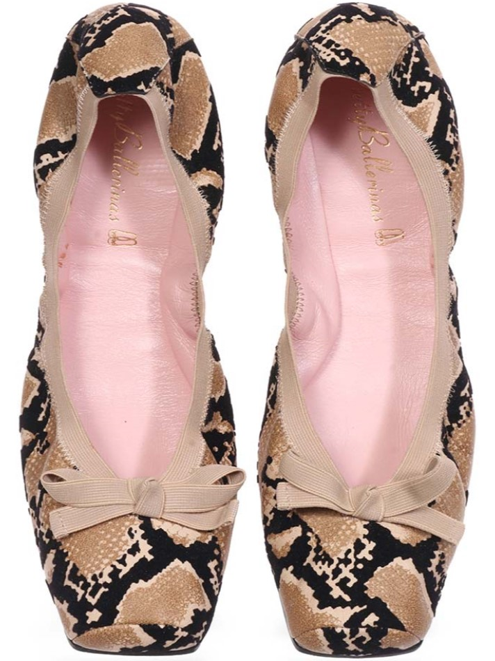 Ashley|כאמל|שחור|נעלי בובה|נעלי בלרינה|נעליים שטוחות|נעליים נוחות|ballerinas