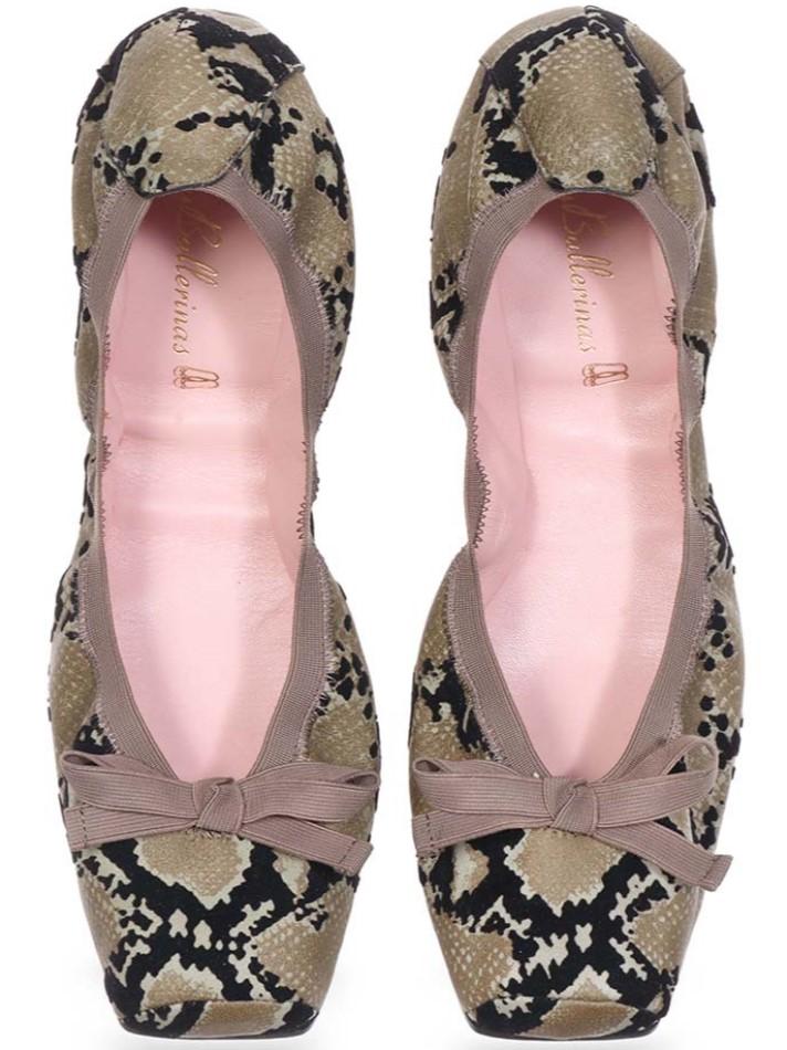 Bailey|זית|שחור|נעלי בובה|נעלי בלרינה|נעליים שטוחות|נעליים נוחות|ballerinas