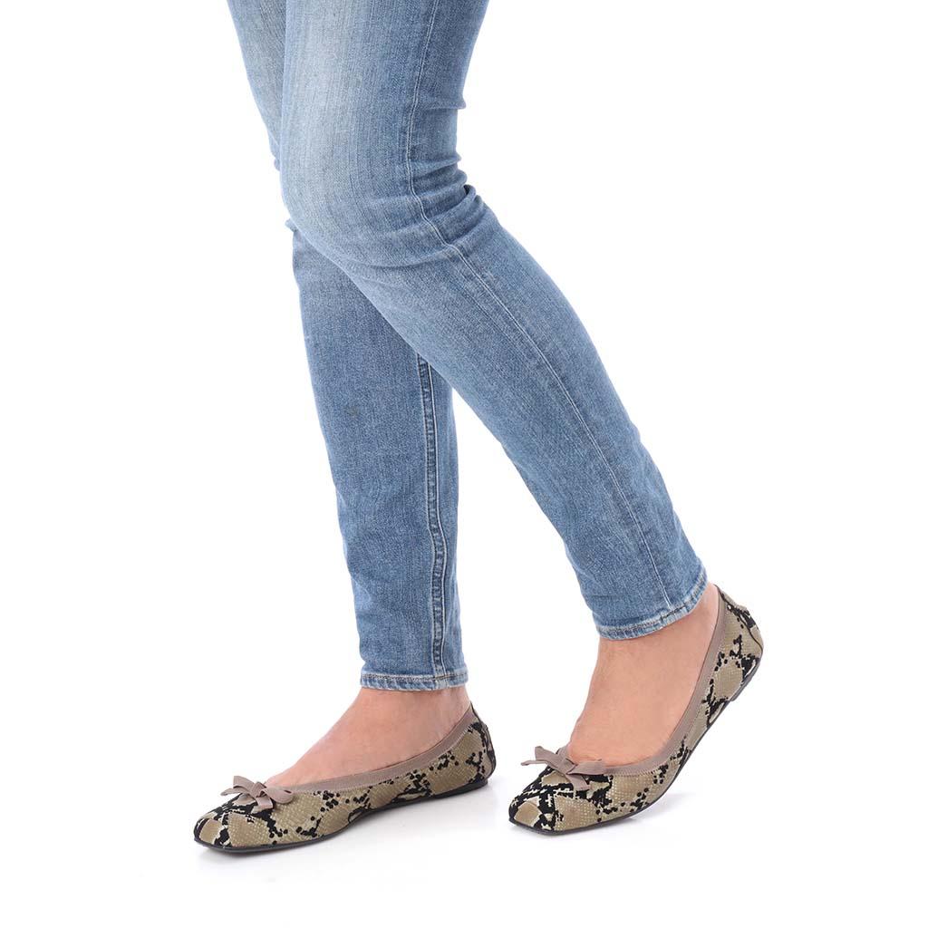 Bailey זית שחור נעלי בובה נעלי בלרינה נעליים שטוחות נעליים נוחות ballerinas