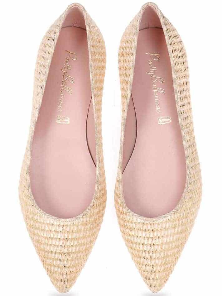 Oro Weave|זהב|נעלי בובה|נעלי בלרינה|נעליים שטוחות|נעליים נוחות|ballerinas