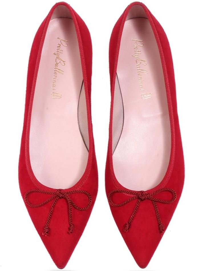 Isabel|אדום|נעלי בובה|נעלי בלרינה|נעליים שטוחות|נעליים נוחות|ballerinas