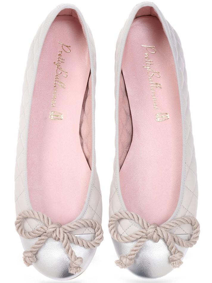 Arenita|כסף|אפור|נעלי בובה|נעלי בלרינה|נעליים שטוחות|נעליים נוחות|ballerinas
