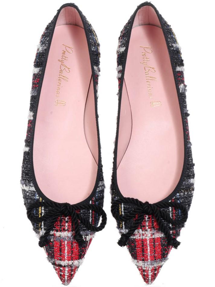 Aliyah|שחור|לבן|אדום|נעלי בובה|נעלי בלרינה|נעליים שטוחות|נעליים נוחות|ballerinas