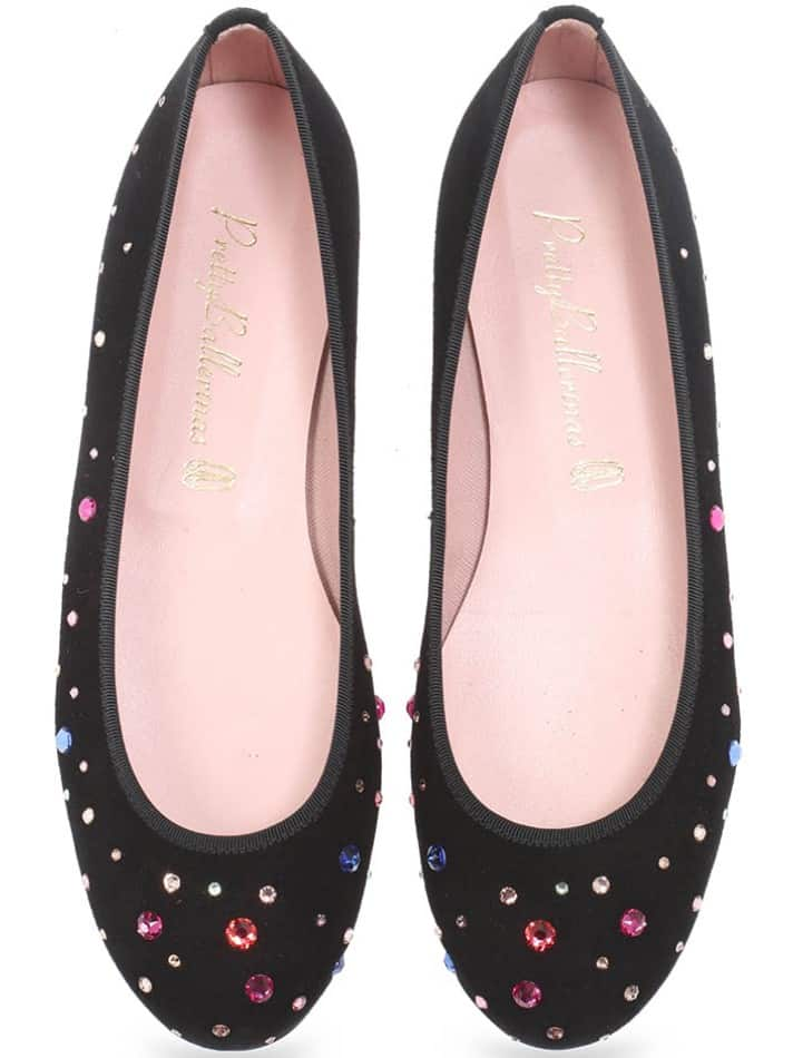Sprinkles|שחור|נעלי בובה|נעלי בלרינה|נעליים שטוחות|נעליים נוחות|ballerinas