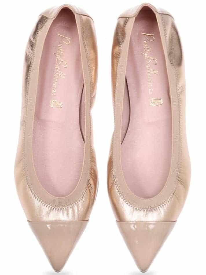Golden Style|ניוד|זהב|נעלי בובה|נעלי בלרינה|נעליים שטוחות|נעליים נוחות|ballerinas