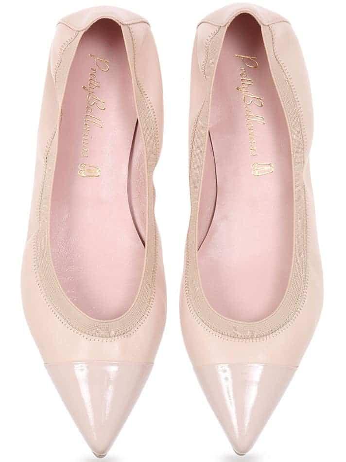 Rose Style|ורוד|זהב|נעלי בובה|נעלי בלרינה|נעליים שטוחות|נעליים נוחות|ballerinas