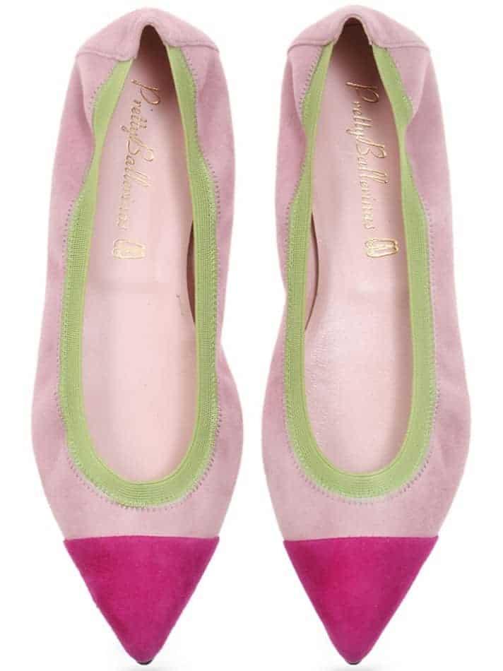 Ema Style|ורוד|נעלי בובה|נעלי בלרינה|נעליים שטוחות|נעליים נוחות|ballerinas