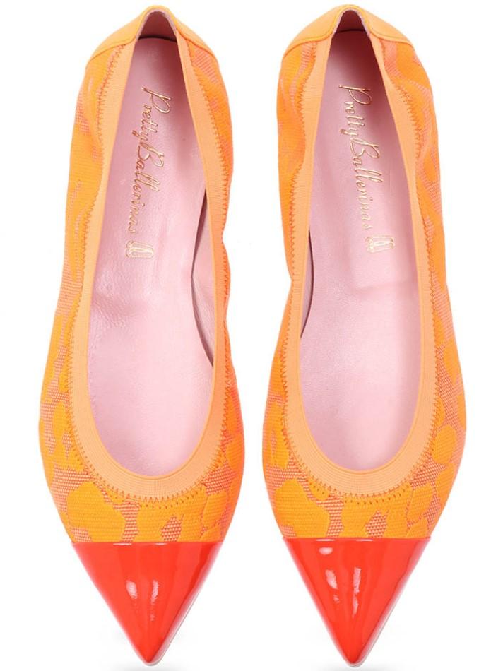 Kaylahe|כתום|נעלי בובה|נעלי בלרינה|נעליים שטוחות|נעליים נוחות|ballerinas