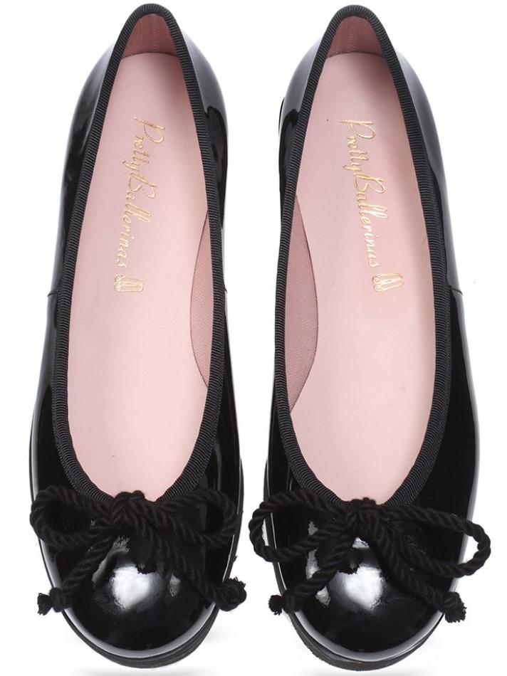 Nicole|שחור|נעלי בובה|נעלי בלרינה|נעליים שטוחות|נעליים נוחות|ballerinas