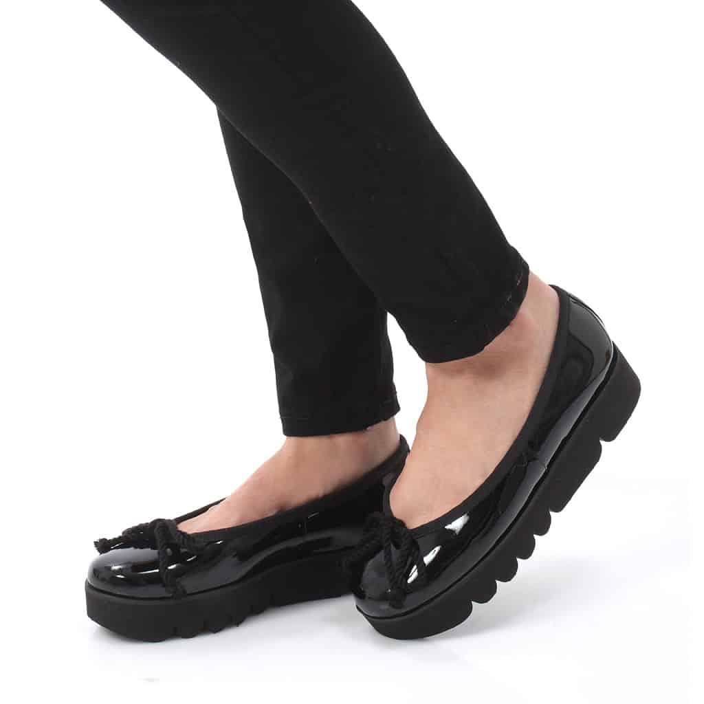 Nicole שחור נעלי בובה נעלי בלרינה נעליים שטוחות נעליים נוחות ballerinas