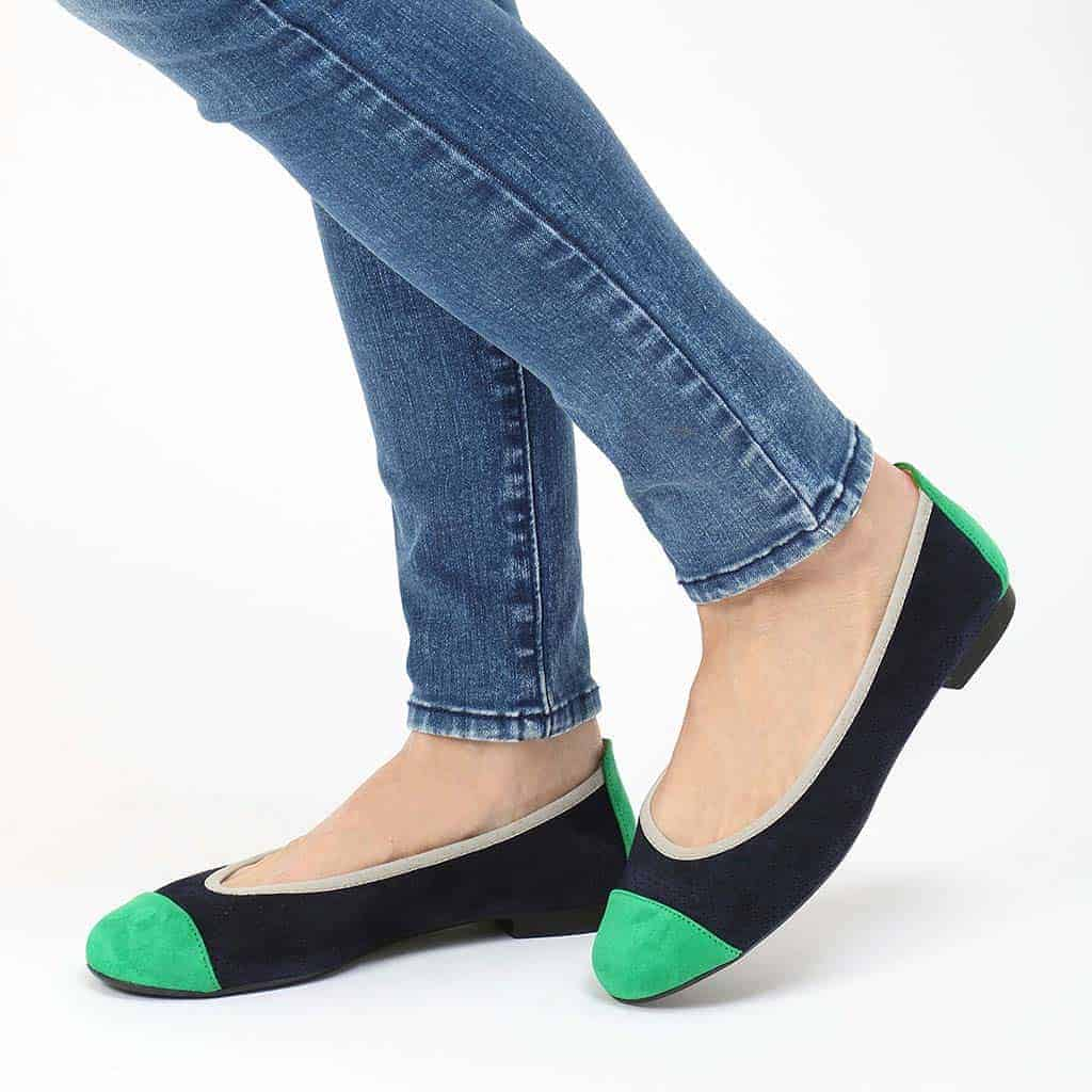 Grass Shirly|ירוק|כחול|נעלי בובה|נעלי בלרינה|נעליים שטוחות|נעליים נוחות|ballerinas
