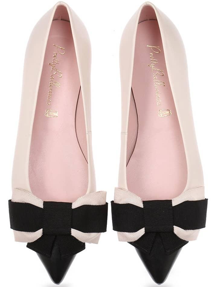 Voyager|שחור|לבן|ניוד|נעלי בובה|נעלי בלרינה|נעליים שטוחות|נעליים נוחות|ballerinas