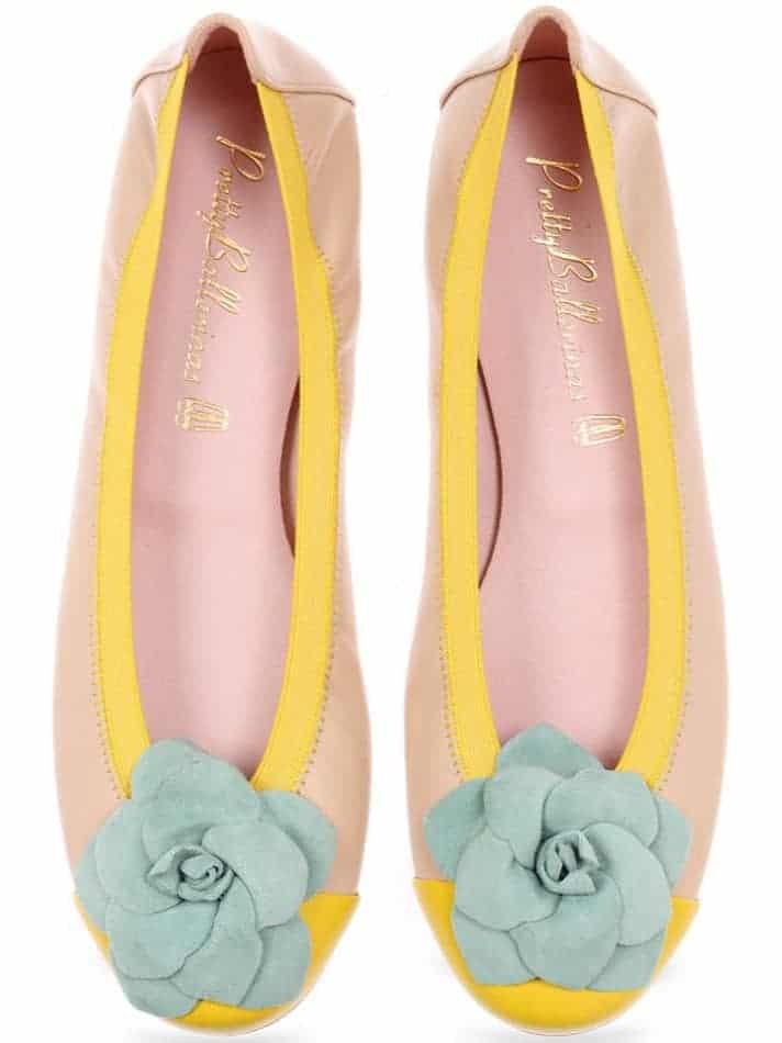 Fire|צהוב|חום|ניוד|נעלי בובה|נעלי בלרינה|נעליים שטוחות|נעליים נוחות|ballerinas