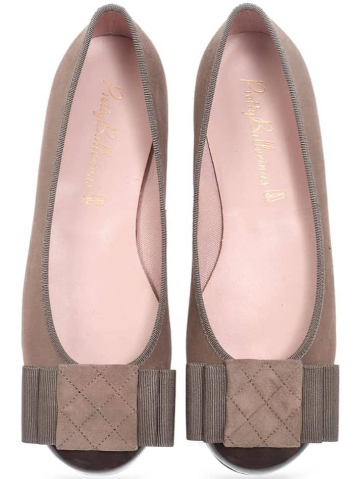 Loulou|חום|נעלי בובה|נעלי בלרינה|נעליים שטוחות|נעליים נוחות|ballerinas