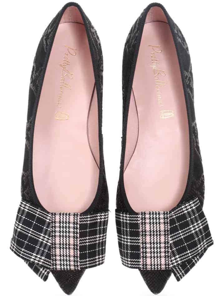 Rebecca|שחור|אפור|נעלי בובה|נעלי בלרינה|נעליים שטוחות|נעליים נוחות|ballerinas