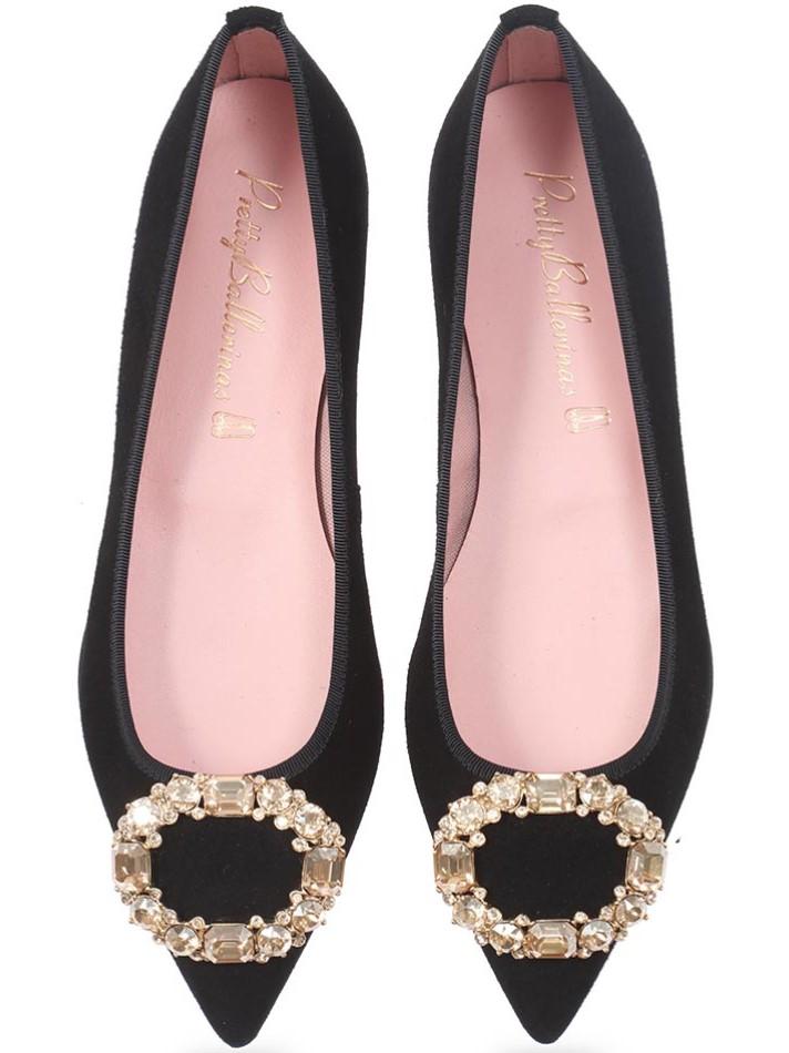 Little Surprise|שחור|נעלי בובה|נעלי בלרינה|נעליים שטוחות|נעליים נוחות|ballerinas