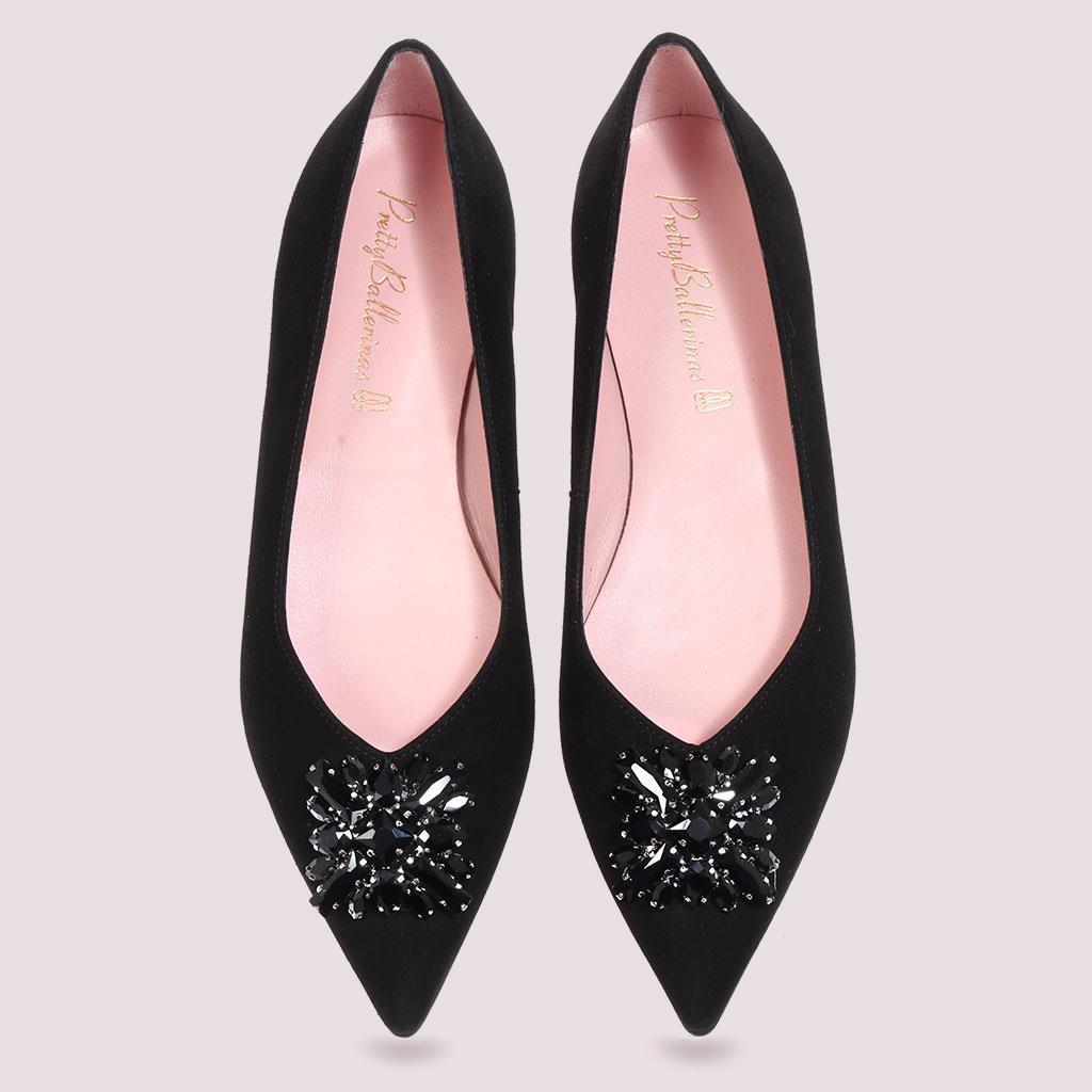 Miriam|שחור|נעלי בובה|נעלי בלרינה|נעליים שטוחות|נעליים נוחות|ballerinas