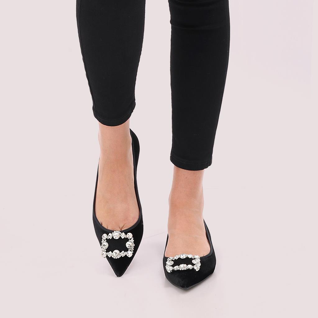 Patila|שחור|נעלי בובה|נעלי בלרינה|נעליים שטוחות|נעליים נוחות|ballerinas