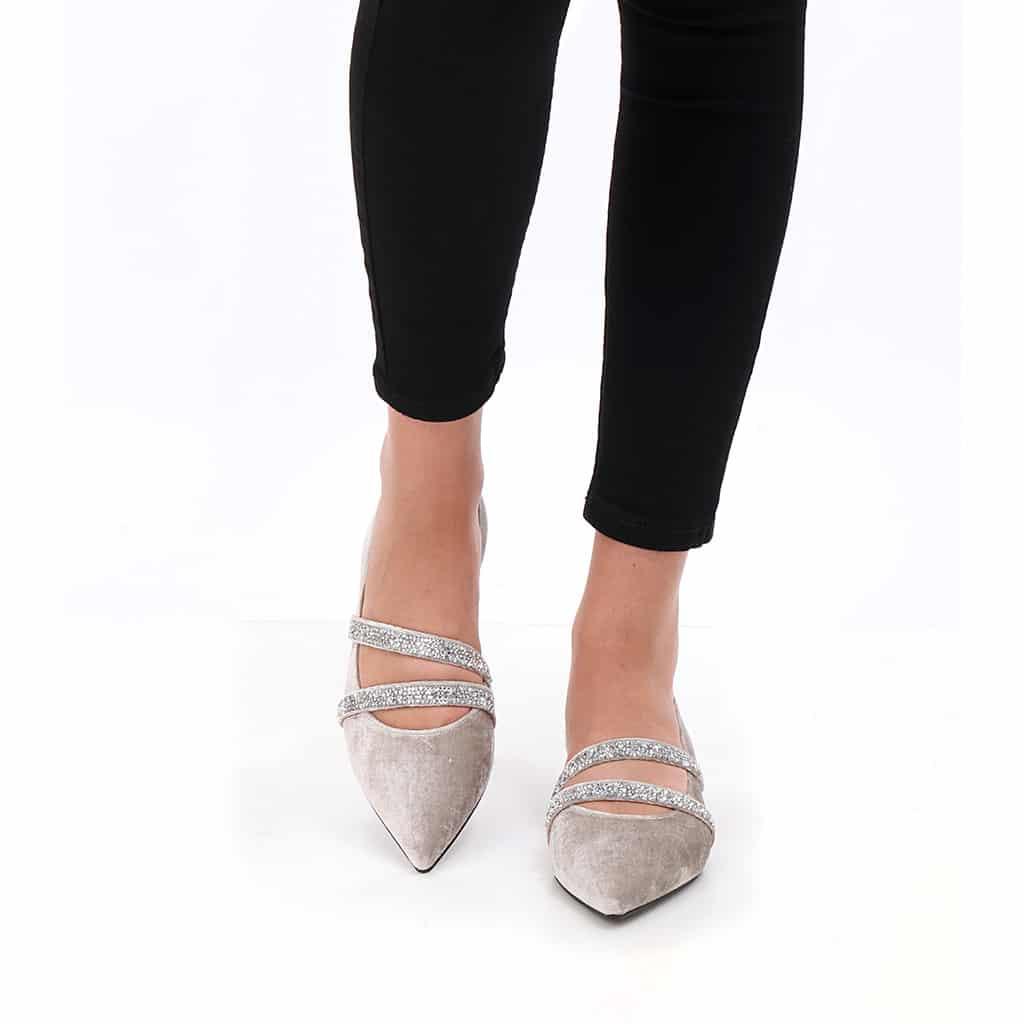 Serena פנינה נעלי בובה נעלי בלרינה נעליים שטוחות נעליים נוחות ballerinas