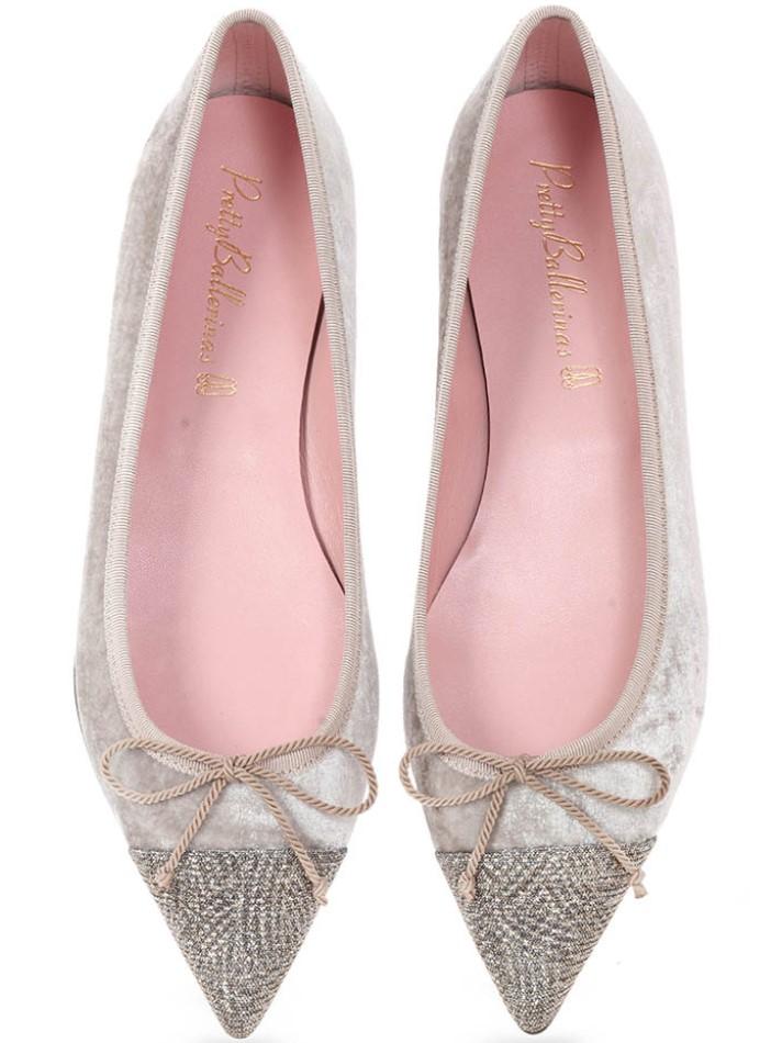 Sierra|כסף|פנינה|נעלי בובה|נעלי בלרינה|נעליים שטוחות|נעליים נוחות|ballerinas