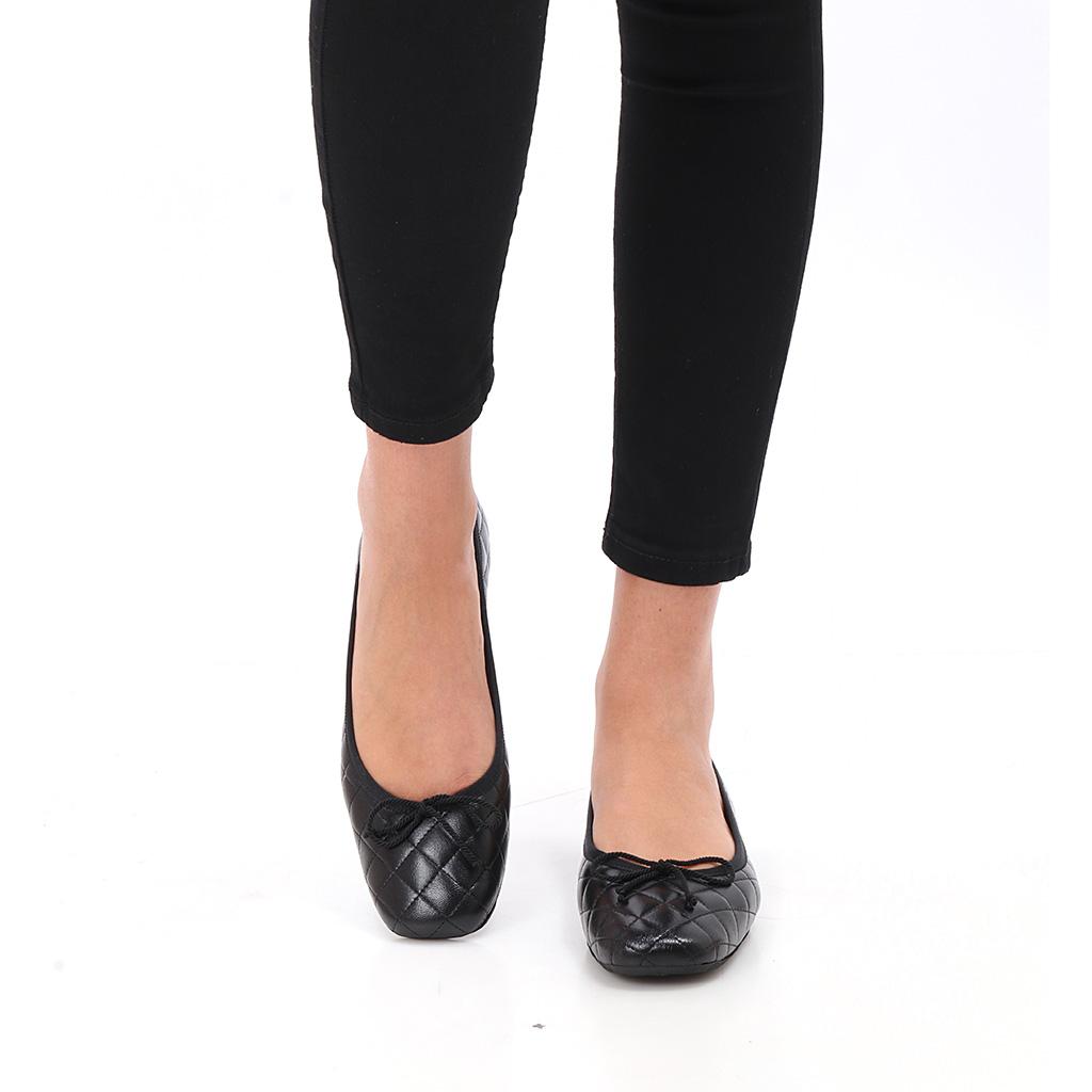 Helena|שחור|נעלי בובה|נעלי בלרינה|נעליים שטוחות|נעליים נוחות|ballerinas