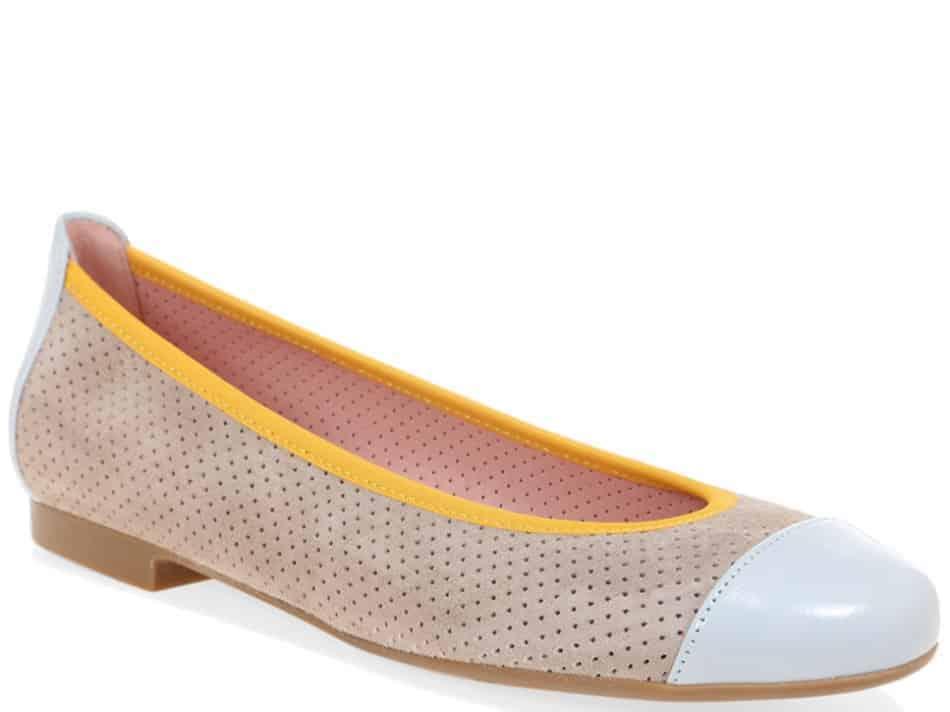 Sky Shirly|תכלת|כאמל|נעלי בובה|נעלי בלרינה|נעליים שטוחות|נעליים נוחות|ballerinas