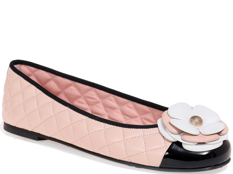 Marissa שחור זהב נעלי בובה נעלי בלרינה נעליים שטוחות נעליים נוחות ballerinas