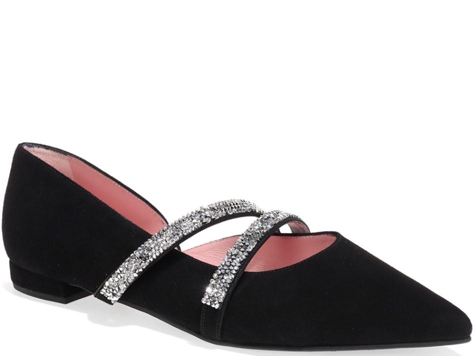 Skyler שחור נעלי בובה נעלי בלרינה נעליים שטוחות נעליים נוחות ballerinas