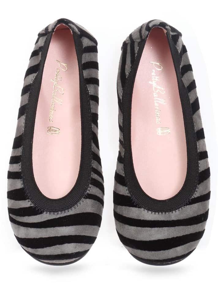 Madagascar|אפור|שחור|ילדות| בלרינה|נעלי בלרינה לילדות|נעלי בלרינה