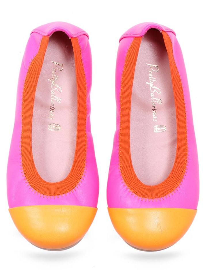 Himari|כתום|ורוד|ילדות| בלרינה|נעלי בלרינה לילדות|נעלי בלרינה