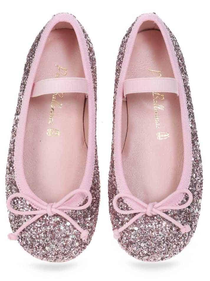 Rosa Sparkle|ורוד|ילדות| בלרינה|נעלי בלרינה לילדות|נעלי בלרינה
