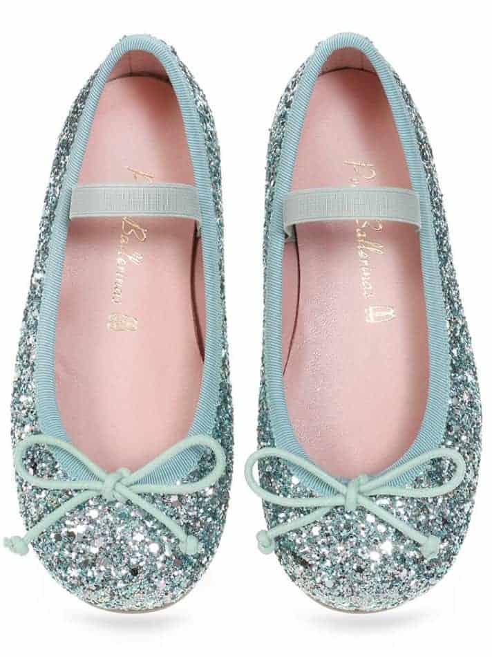 Sea Sparkle|כסף|כחול|ירוק|ילדות| בלרינה|נעלי בלרינה לילדות|נעלי בלרינה