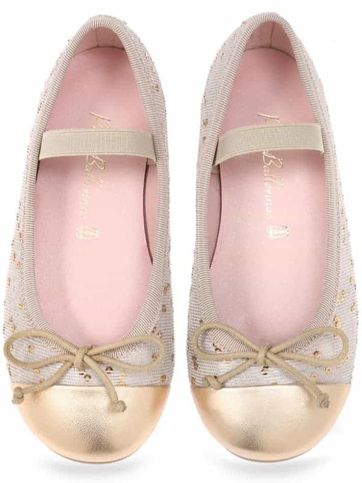 Gold Drops Girls|זהב|ניוד|ילדות| בלרינה|נעלי בלרינה לילדות|נעלי בלרינה