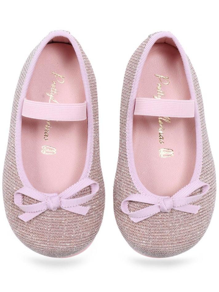 Anemone|ורוד|ילדות| בלרינה|נעלי בלרינה לילדות|נעלי בלרינה