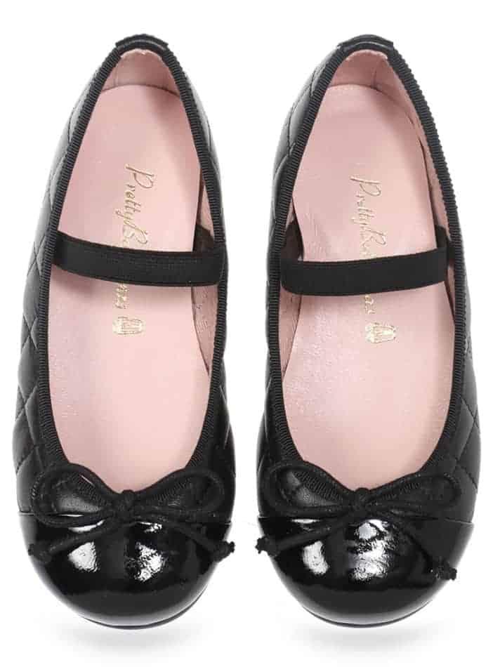 Gloria|שחור|ילדות| בלרינה|נעלי בלרינה לילדות|נעלי בלרינה