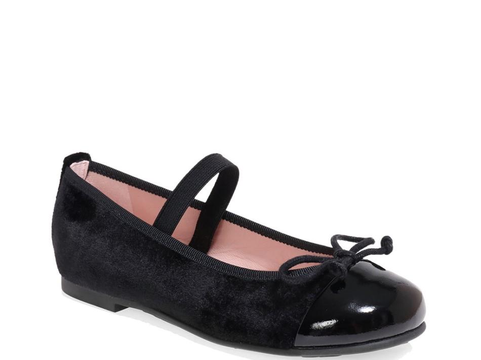 Hannah|שחור|נעלי בובה|נעלי בלרינה|נעליים שטוחות|נעליים נוחות|ballerinas