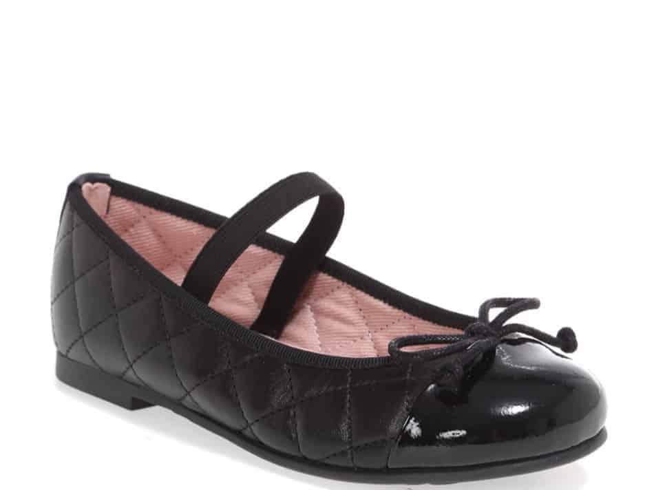 Gloria שחור ילדות  בלרינה נעלי בלרינה לילדות נעלי בלרינה