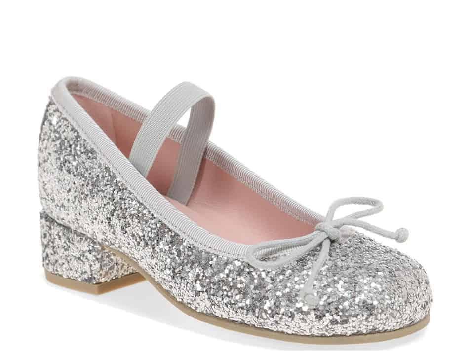 Silver Sparkle Heel כסף נעלי עקב לילדות עקבים עקב Heels