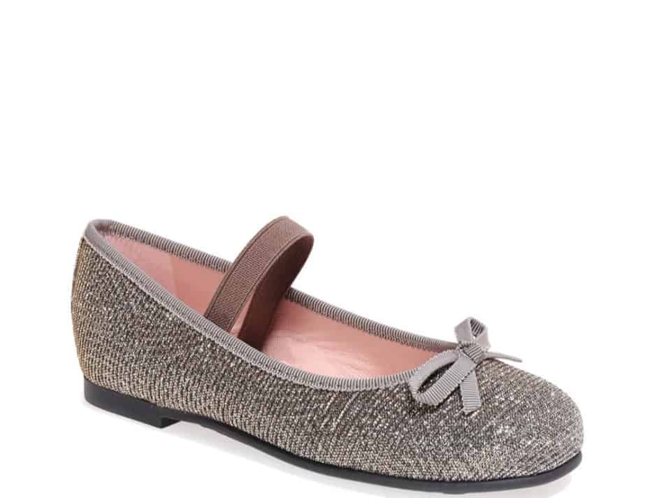Olivia|כסף|נעלי בובה|נעלי בלרינה|נעליים שטוחות|נעליים נוחות|ballerinas