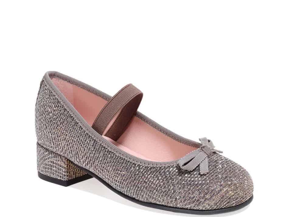 Amelia כסף נעלי עקב לילדות עקבים עקב Heels