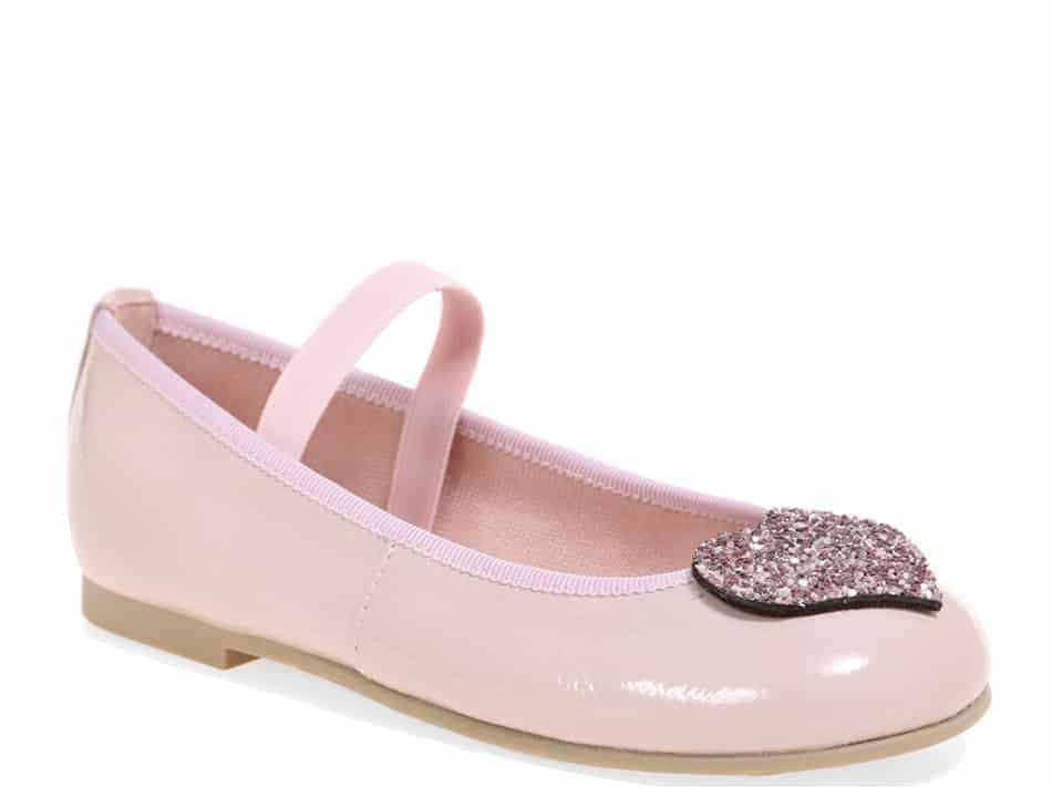Pink Hearts|ורוד|ילדות| בלרינה|נעלי בלרינה לילדות|נעלי בלרינה