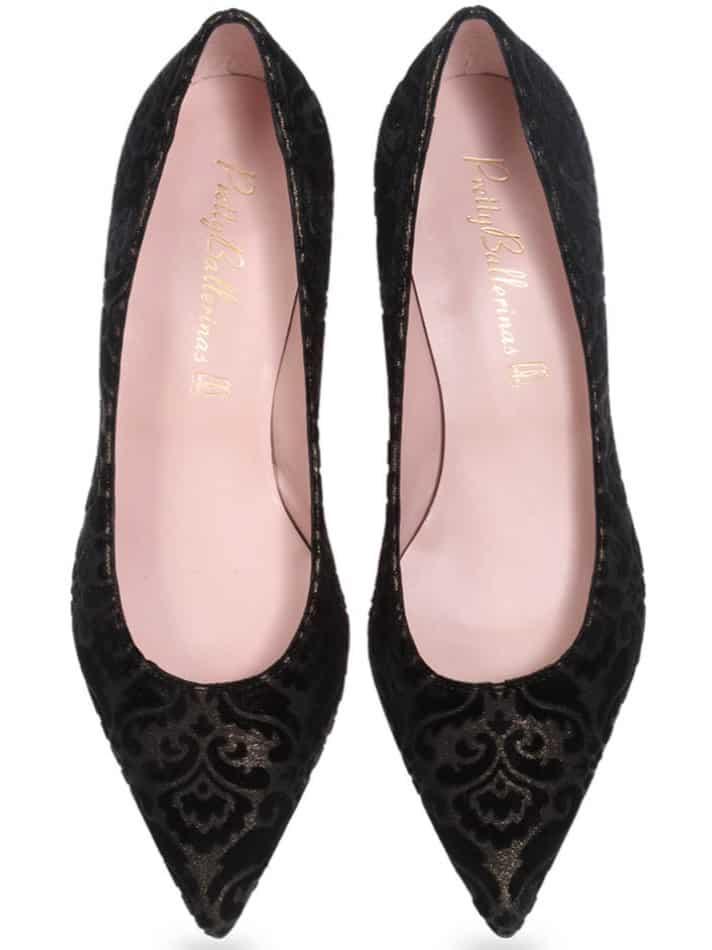 Ancient Mystery שחור נחושת עקב נעלי עקב Heels