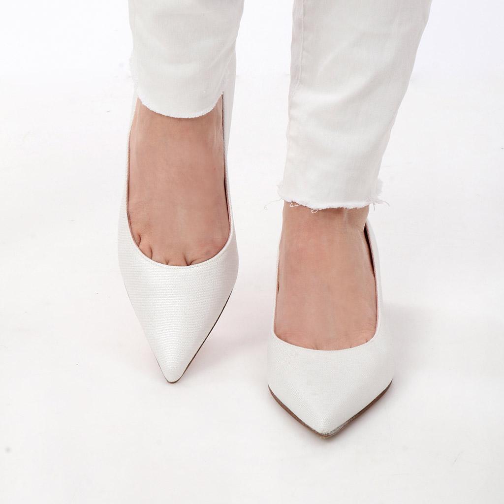 Michaela|לבן|עקב|נעלי עקב|Heels