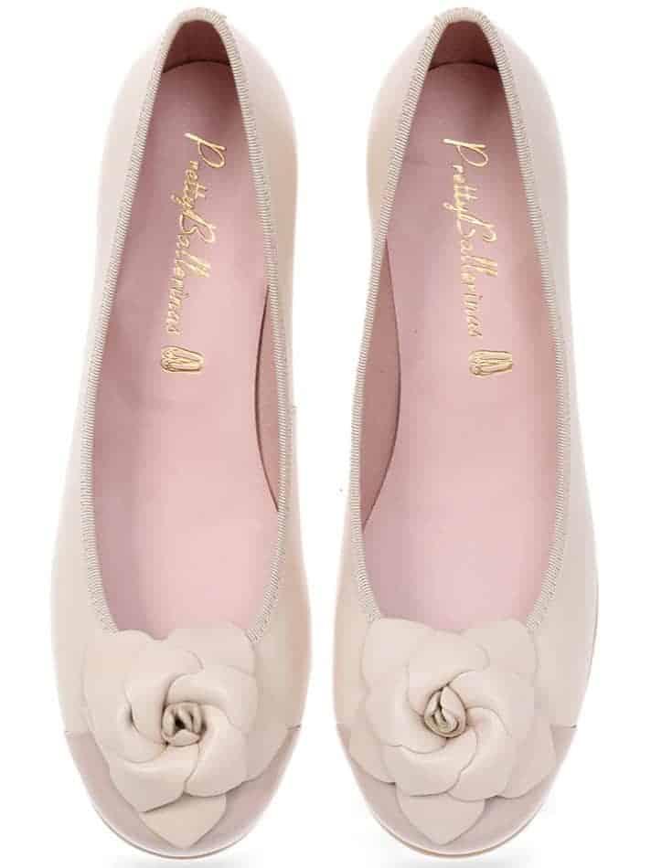 Delice Flower|ורוד|לבן|ניוד|עקב|נעלי עקב|Heels