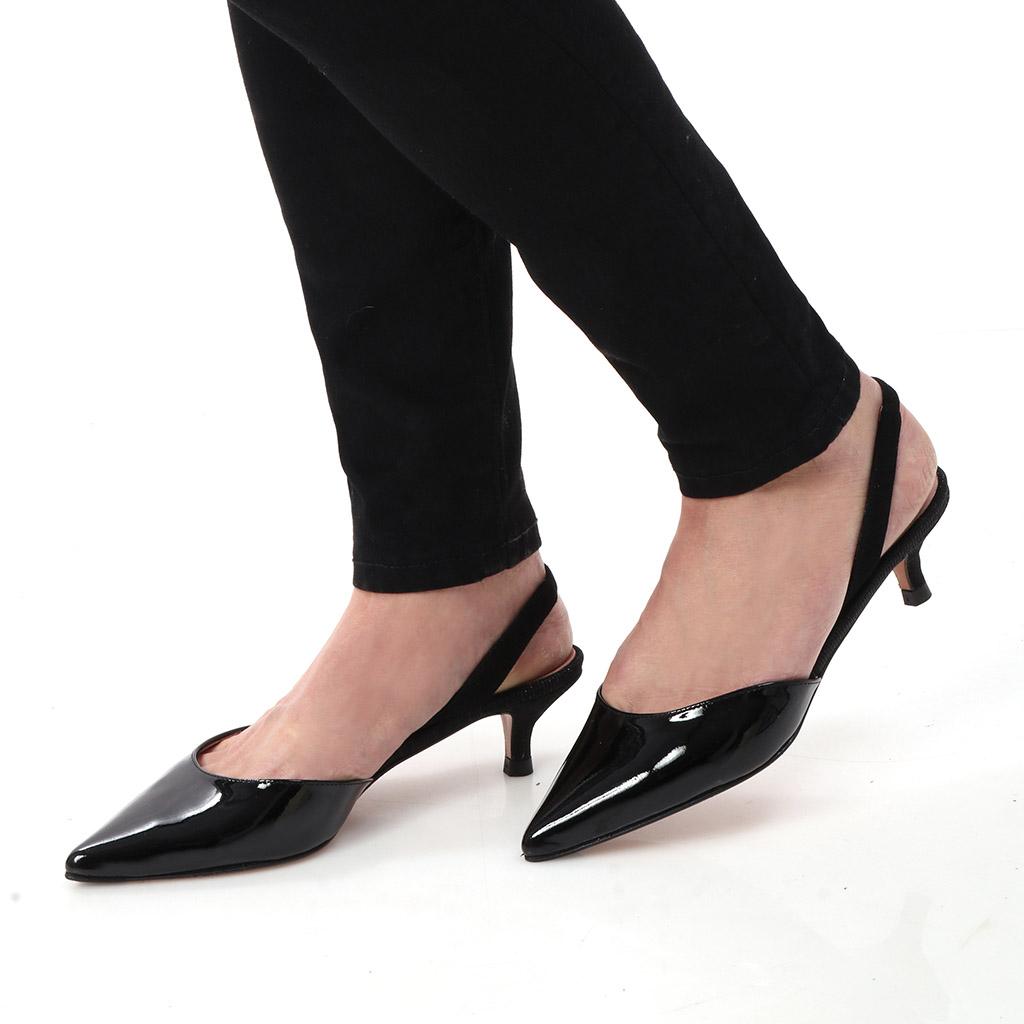 Cosmos שחור עקב נעלי עקב Heels