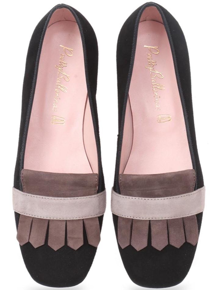 Elements שחור חום נעלי בובה נעלי בלרינה נעליים שטוחות נעליים נוחות ballerinas