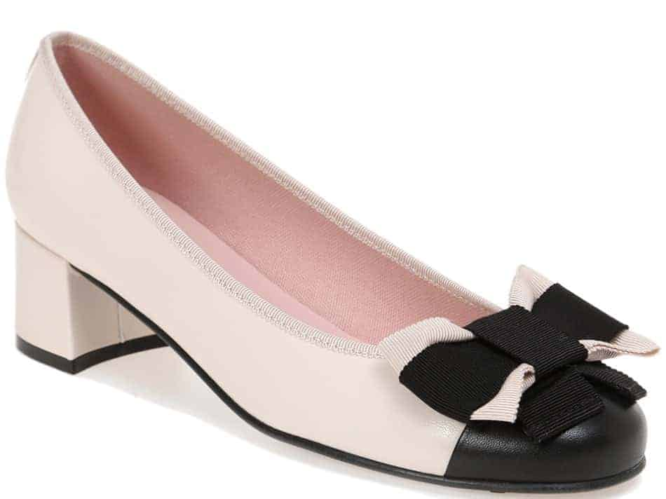 Delice Bow|שחור|לבן|ניוד|עקב|נעלי עקב|Heels